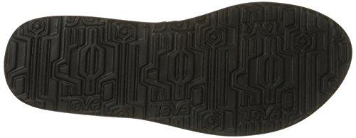 Teva Women's Mush II Flip Flop,Fronds Black,9 M US