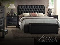Hot Sale Ireland Black PU Eastern King Bed Set