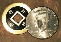 China Change Coin Tricks Brass Money Magic Vanishing