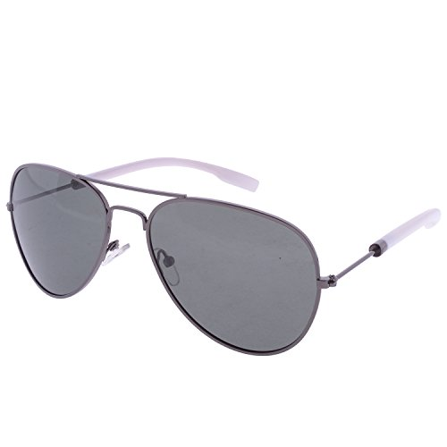 Iris Iris Aviator Black Sunglasses(Ie229p-Black-Shade-Wht-T) (Multicolor)