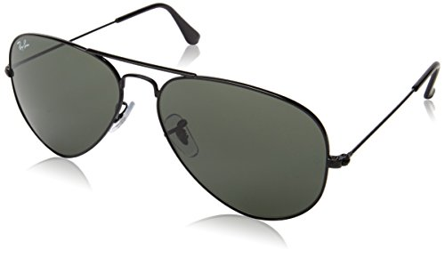 Ray-Ban RB3025 Aviator Large Metal Non-Polarized Sunglasses,Black Frame/G-15 XLT Lens,58mm