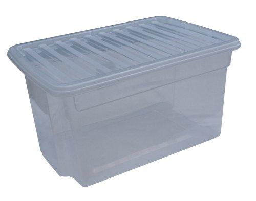 Pack 5 50lt plastic boxes + lids