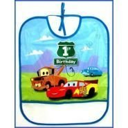 Disney Cars 1st Birthday Bib 1ct