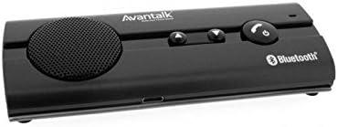 [Version améliorée]Avantree 10BP Kit mains libres Bluetooth 4.0 sans fil haut-parleur pour voiture, installation sur pare-soleil et technologie d'élimination d'echo et de bruits pour une conversation de qualité, capable de connecter 2 téléphones en même temps, supporte A2DP - instructions GPS et la musique (mono), affichage d'état de la batterie sur l'iPhone. Compatible avec iPhone 6/6plus/5/5 s, Samsung note4/3/2, galaxy S5/S4, HTC, Nexus et autres (10BP)