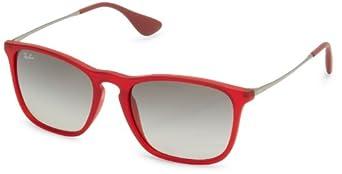 (超值)Ray-Ban 0RB4187 Square Sunglasses雷朋女士红框渐变色太阳镜$76.39