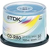 Tdk Cd-R80 Cba50pk Spindle Cb50 52x T18770