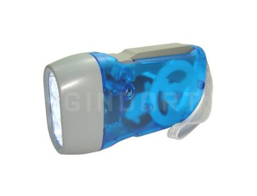 3 LED Dynamo Wind up Flashlight Nr Camping Torch Light