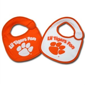 Clemson Tigers Team Logo Baby Bibs - 2 Pack at Amazon.com