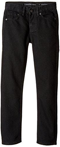Calvin Klein Big Boys' Rocker Skinny Denim Jean, Pitch Black, 14