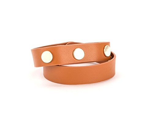 Griffin Fitbit Flex Leather Wrist Band, Uptown Band, [Toffee] [Stylish] [Double Wrap] [Genuine Leather Band] [4 Adjustable Metal Snaps] [Fitbit...