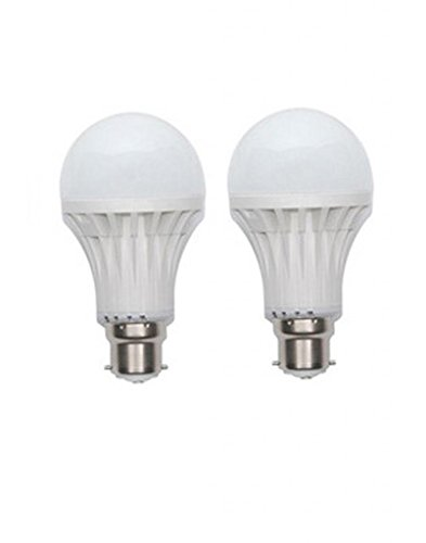 7W LED Bulb B22 White (pack of 2)