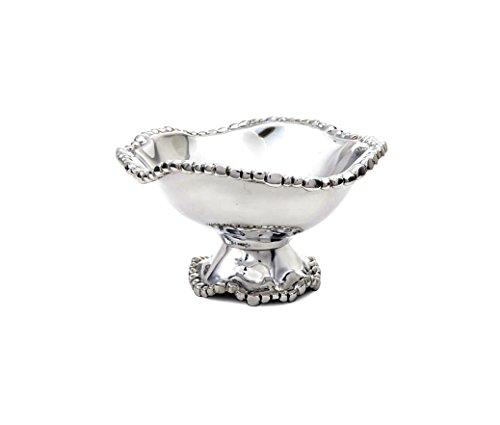Beatriz Ball 6638 PEDESTAL Organic Pearl Diana Bowl, Medium, Silver (Beatriz Ball Pedestal compare prices)
