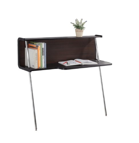 Enitial Lab Modern Leaning Office Desk, Dark Walnut front-729941