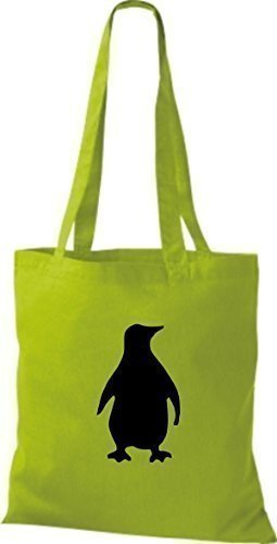 shirtinstyle-fabric-bag-pinguin-cotton-bag-various-colours-38-x-42-cm-lime-green