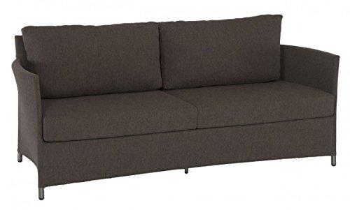 Dreams4Home-Lounge-Sofa-Myra-Sofa-Loungesofa-Gartensofa-BalkonmbelTerrassenmbel-Loungembel-Gartenmbel-inklusive-Kissen-Metall-Aluminium-BHT-188-x-75-x-77-cm-Aluminiumgestell-in-coffee