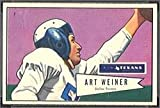 1952 Bowman Large (Football) Card# 114 Art Weiner of the Dallas Texans VG Condition