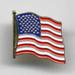 Waving USA Flag Lapel Pin
