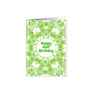 Birthday cards ideas cool birthday card design amazon cool green design happy half birthday custo bookmarktalkfo Image collections