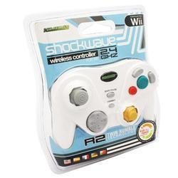 Komodo Shockwave Wireless White Controller for Wii and Gamecube
