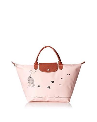 Longchamp Women's Le Pliage Cage Aux Oiseaux Handbag, Rose Pale