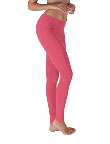 Yoga Reflex Women's Yoga Pants - Stitched Bottom - Hidden Pocket, CORAL, M (Pink Brand Yoga Pants compare prices)