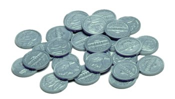 Learning Advantage CTU7522 Plastic Coins 100 Nickels - 1