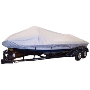 """Dallas Manufacturing Co. Semi-Custom Boat Cover - V-Hull O/B - 19'L, 96""""W primary"""