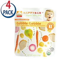 Happy Baby Organic Baby Food Stage 3 Gobble Gobble -- 4 oz Each / Pack of 4