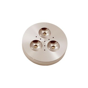 Puck Led Under Cabinet Satin Aluminum Finish 3In Led By Edge Lighting - Sku Puck-Rd-3W-90D-30K-Sa