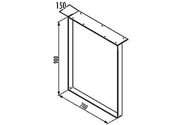tablon kufe per un anrichtt ISCH realizzata in plastica, acciaio cromato con grande tavolo anschraubplatte/base/tavolo da incasso/supporto da tavolo con ampio anschraubplatte