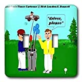 Londons Times Funny Music Cartoons – Golf Drivers – Light Switch Covers – double toggle switch