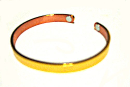 Copper Magnetic Bracelet Cuff Bangle Style. For Men or Women (design 2)