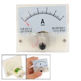 Amico Class 2.5 Accuracy DC 0-5A Analog Panel Meter Ammeter