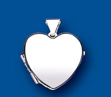 Beautiful Sterling Silver Plain Heart Locket 20 x 15mm
