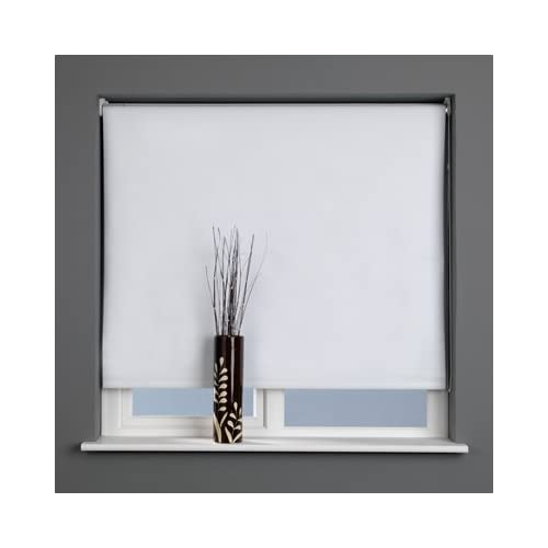 Sunlover Thermal Blackout Roller Blind, White, W210cm