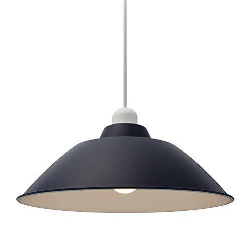 アイリスオーヤマ LEDペンダントライト LED電球セット Gammel Plas ホーロー調 Mサイズ ネイビー PL3L-E26PE1-L