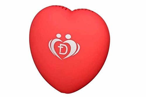 Onairmall® Olf-618 New Style Portable Mini Heart Shape Air Purifier Ozonizer Pendant-Ion Generator - Red