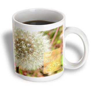 Patricia Sanders Flowers - A Wish For You Dandelion Flower Macro Photography - 15Oz Mug (Mug_32568_2)