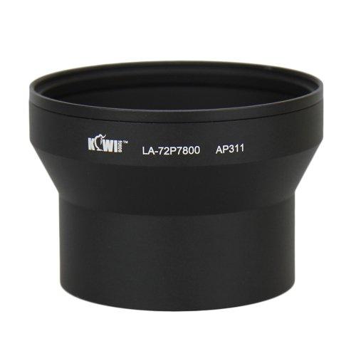 Kiwifotos LA-72P7800 filtre objectif adaptateur pour Nikon Coolpix P7700, P7800 - 72mm