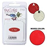 Decore Light Siam Red Self-hardening, Jewelry Craft Two-part Epoxy Clay Kit, 20 Grams