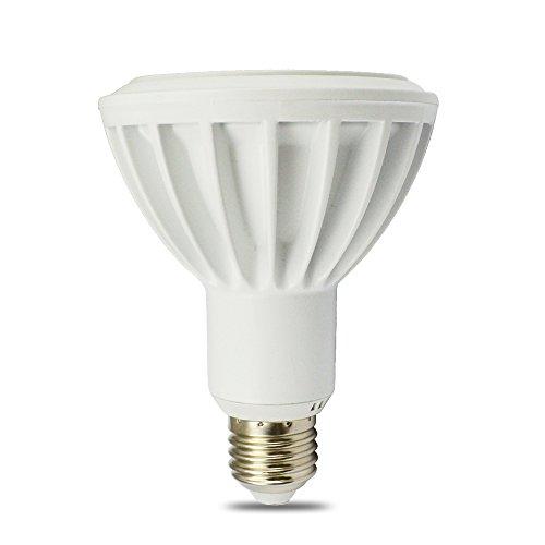 Lohas® Par30/12W/E27 Soft White Dimmable Led Par20 Spotlight,120W Equivalent Halogen Lamp,Ivory Alumium Lamp Body