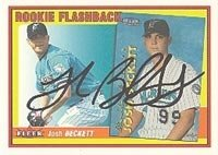 Josh Beckett Florida Marlins 2002 Fleer Autographed Hand Signed Trading Card - Nice... by Hall+of+Fame+Memorabilia