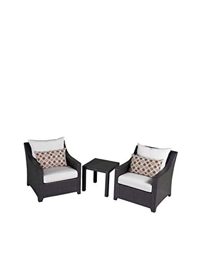 RST Brands Deco 2 Club Chairs & Side Table Set, Cream