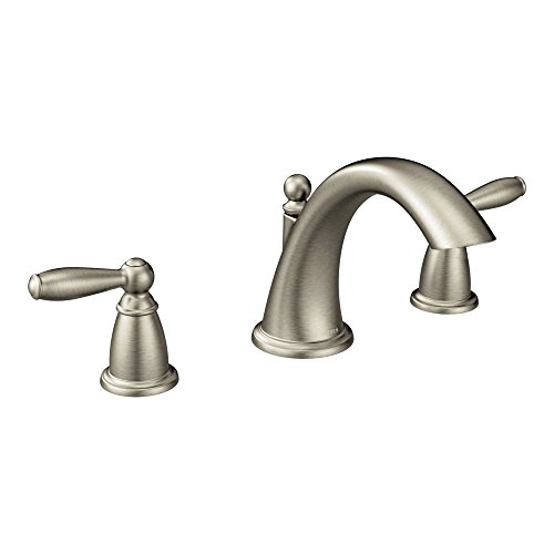 Moen T4943BN Brantford Two-Handle Low Arc Roman Tub Faucet without Valve, Brushed Nickel (Faucet Roman Tub compare prices)