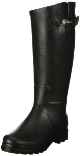 Aigle Women's Aiglentine Fur Noir Wellington Boot 85899 5.5 UK, 39 EU