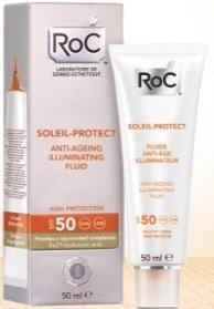 Roc Soleil Protect Fluida Viso Anti Età Illuminante SPF50 50 ml