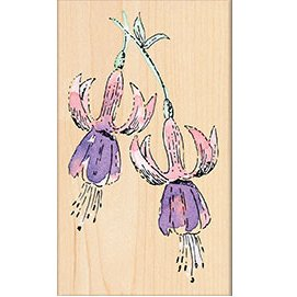 Penny Black 311877 Fuchsia Mounted Rubber Stamp, 2.5 by 3.75-Inch - 1