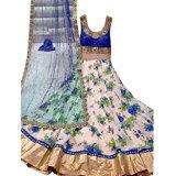 Mannat Design Women's Blue Star Collection Suit Dress Material (Blue C-FreeSize_SD)