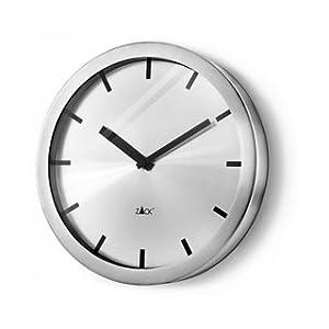 Zack apollo horloge murale ronde en inox 30 cm amazon for Horloge inox cuisine