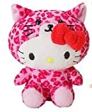 Sanrio Hello Kitty Safari Mascot Plush (pink Leopard)